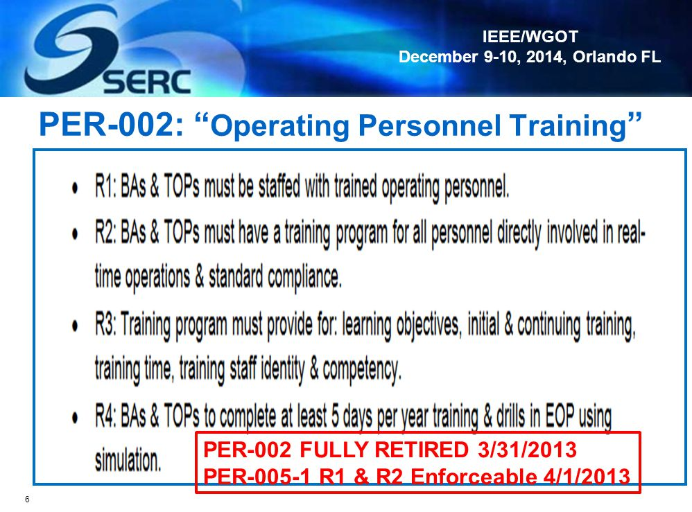 PER-002: Operating Personnel Training