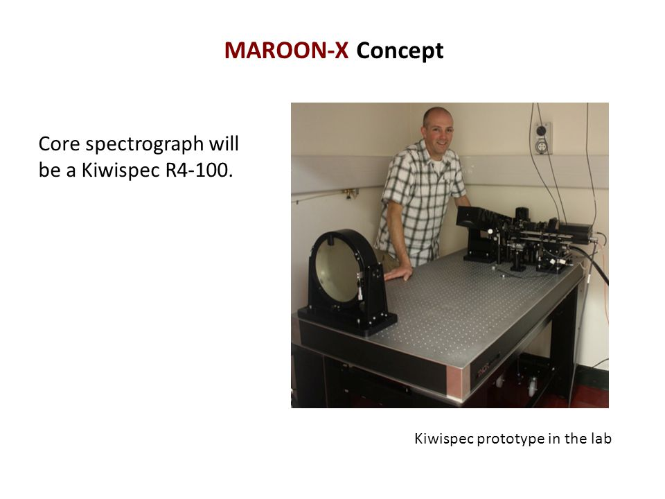 MAROON-X Concept Core spectrograph will be a Kiwispec R4-100.