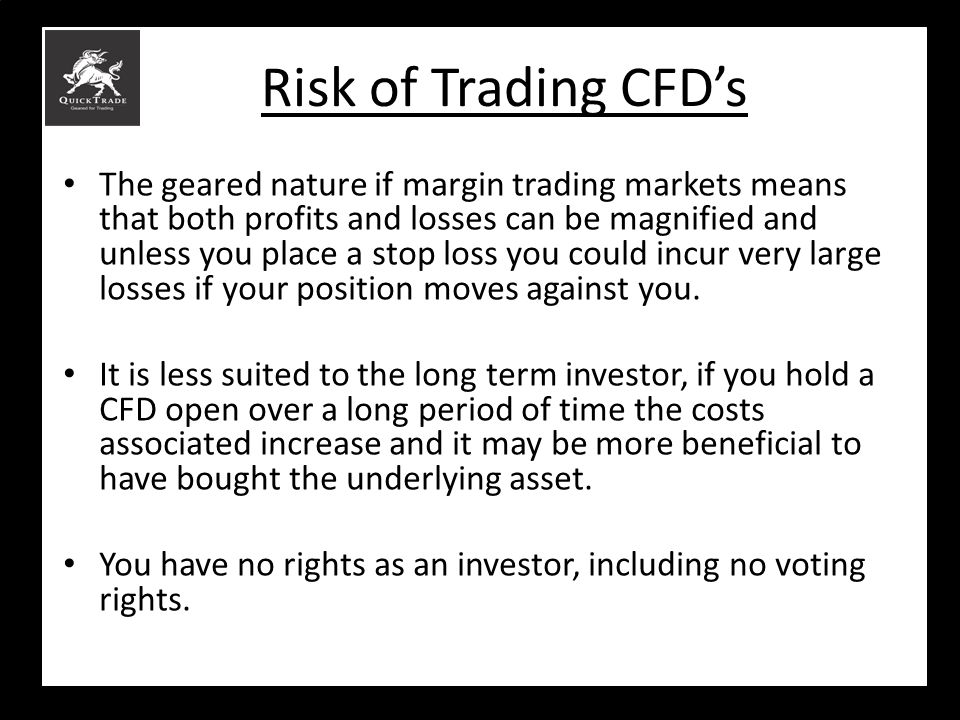 Risk of Trading CFD's