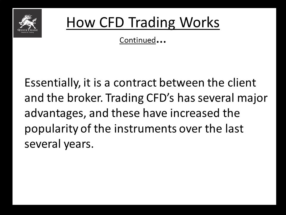How CFD Trading Works Continued…