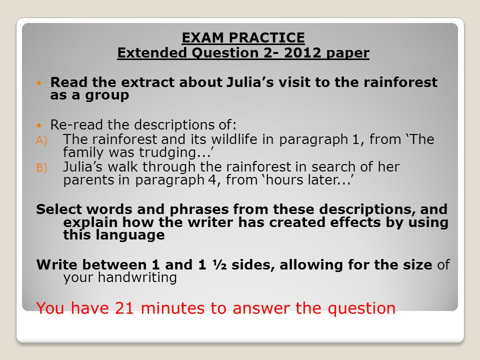 Extended Question 2- 2012 paper