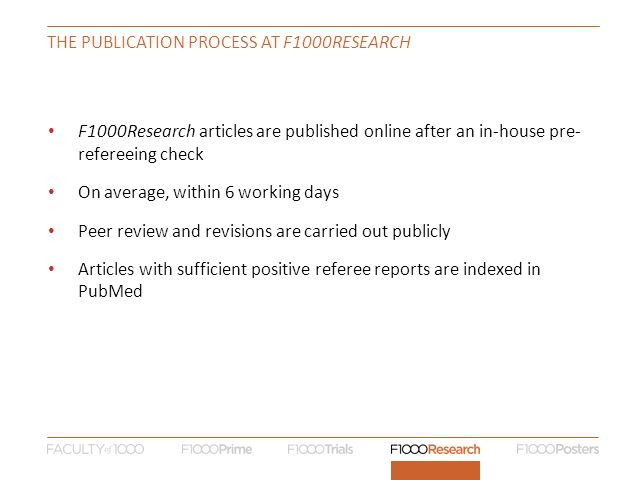 The publication process at F1000research