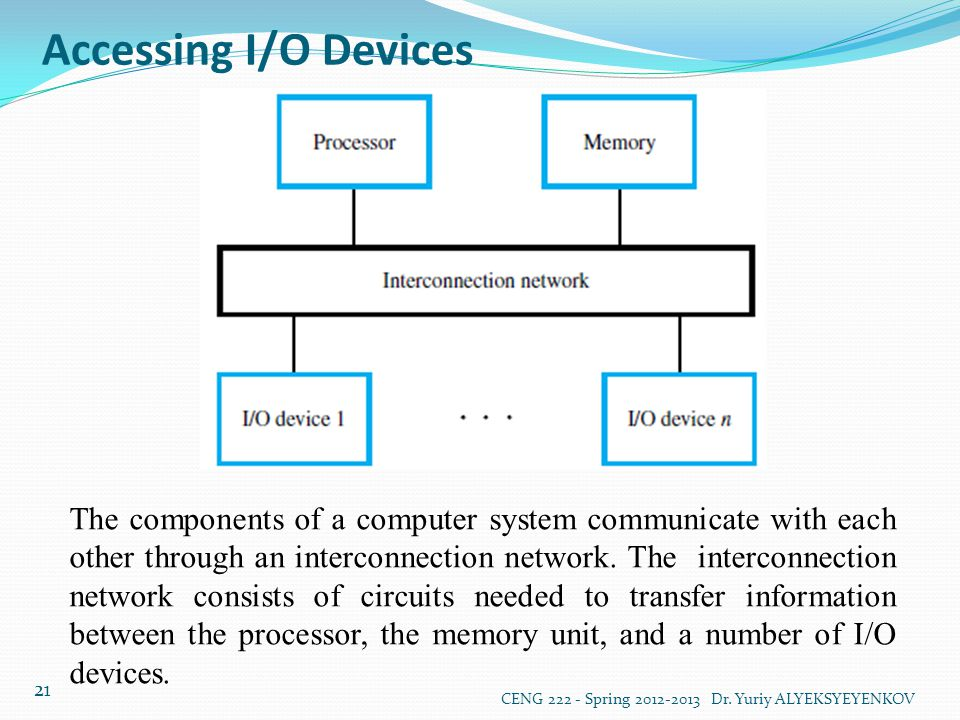 Accessing I/O Devices