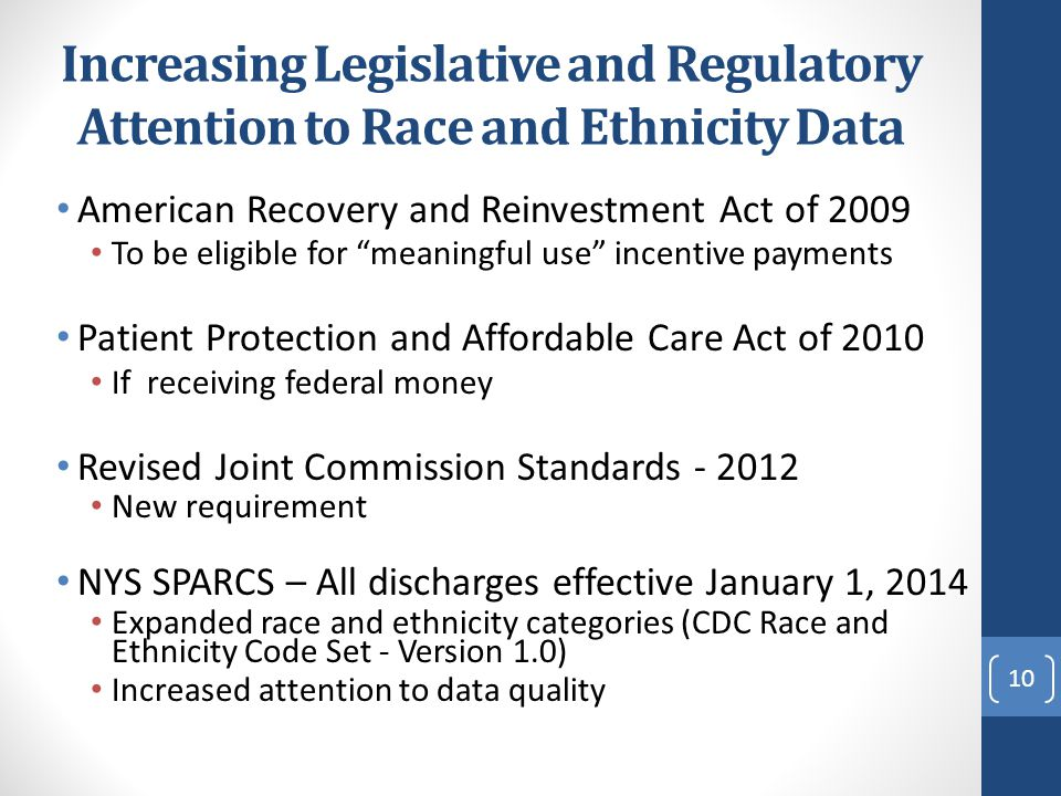 Increasing Legislative and Regulatory Attention to Race and Ethnicity Data