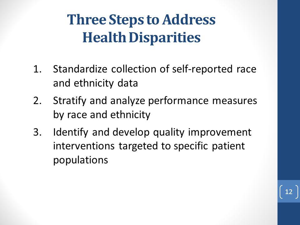 Three Steps to Address Health Disparities