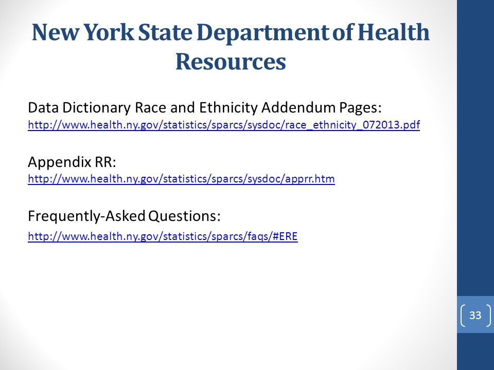 New York State Department of Health Resources