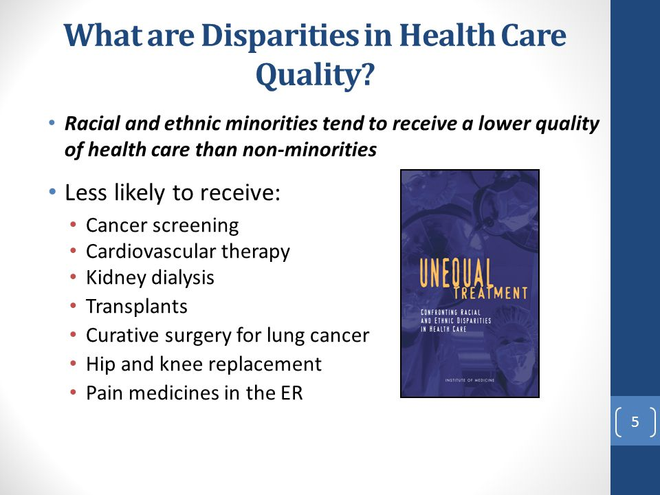 What are Disparities in Health Care Quality
