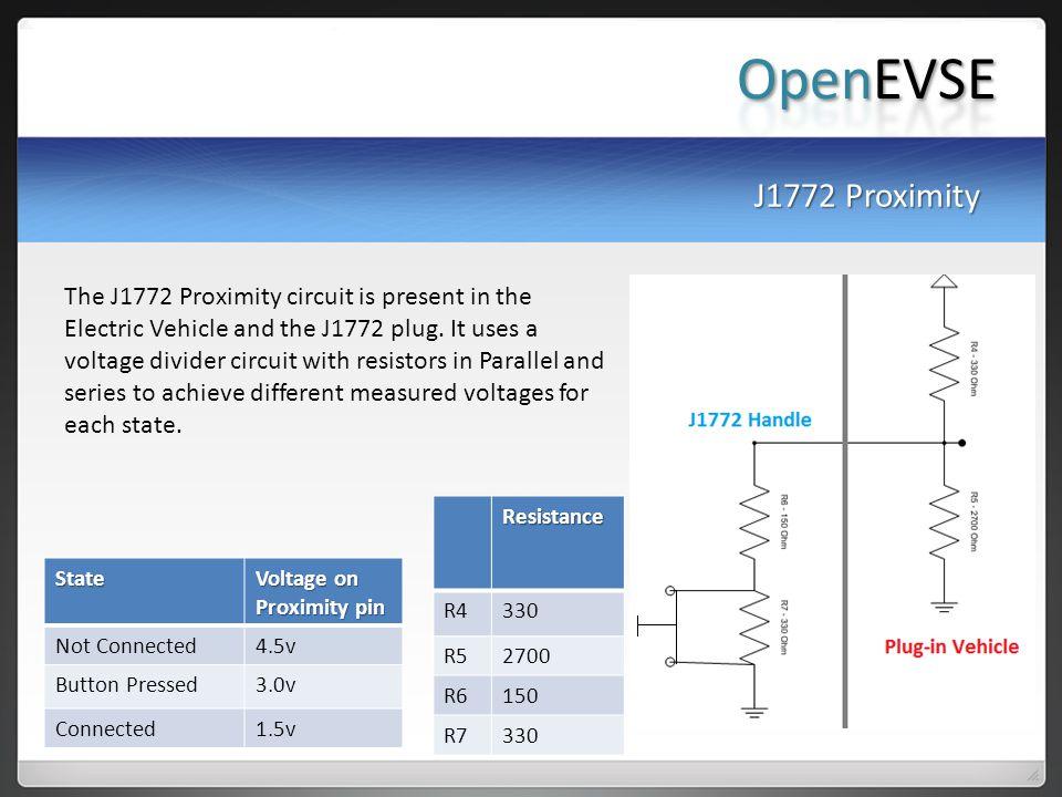 OpenEVSE J1772 Proximity.