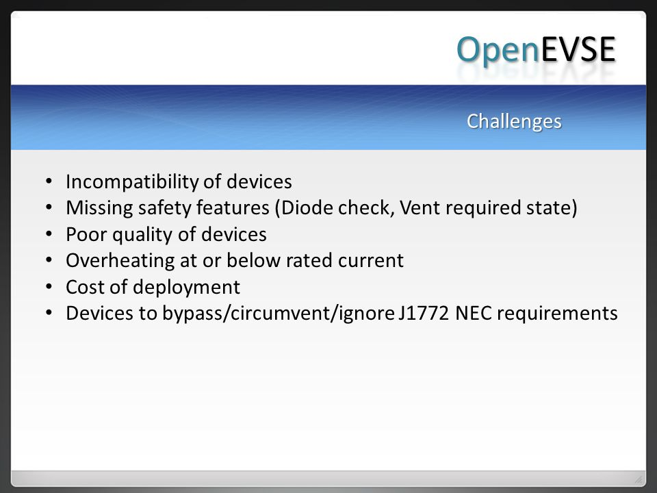 OpenEVSE Challenges Incompatibility of devices