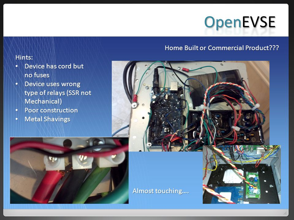 OpenEVSE Home Built or Commercial Product Hints: