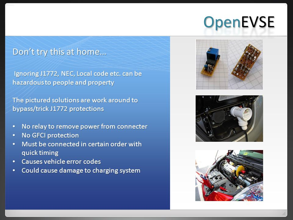OpenEVSE Don't try this at home…