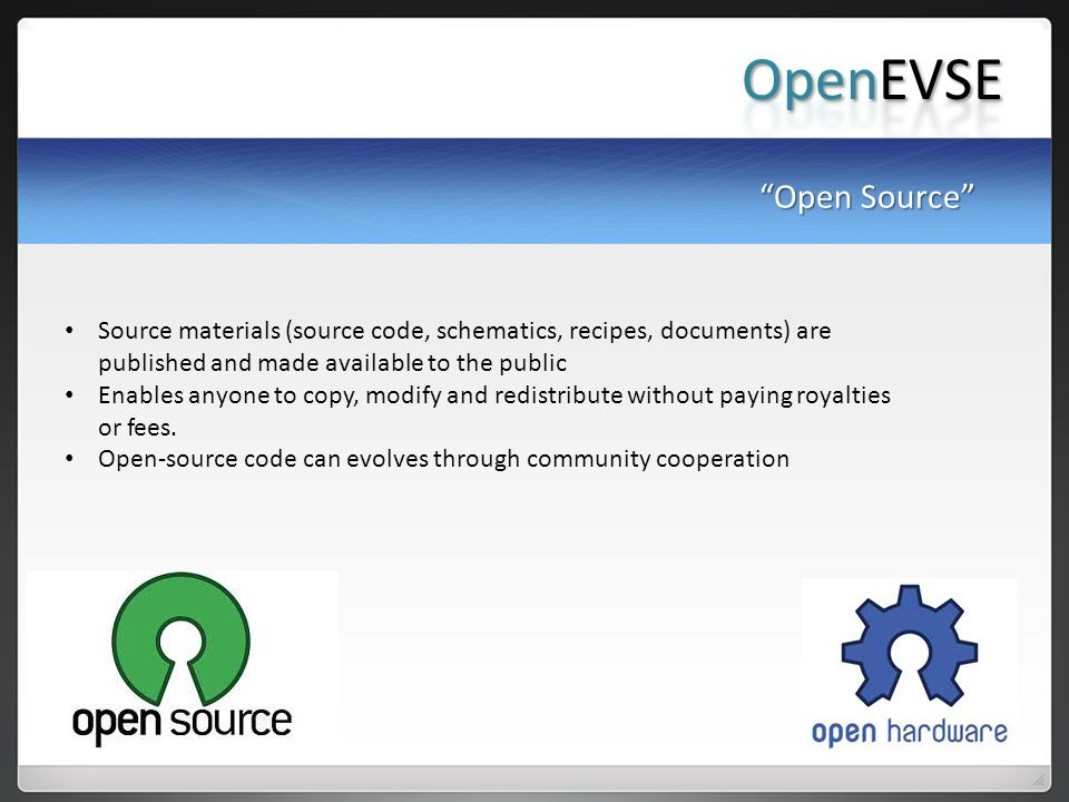 OpenEVSE Open Source