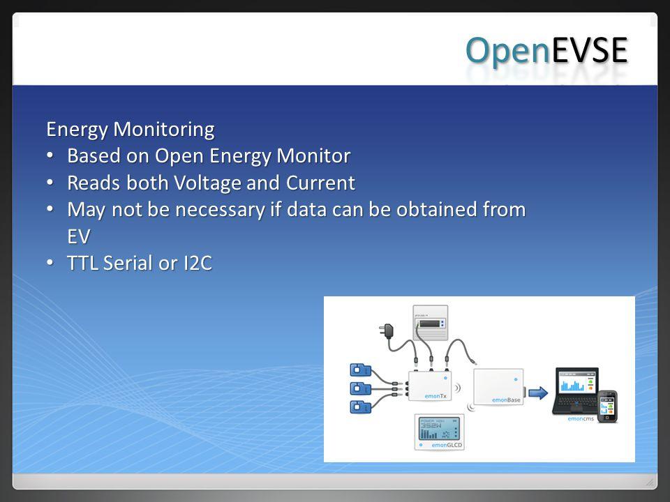 OpenEVSE Energy Monitoring Based on Open Energy Monitor