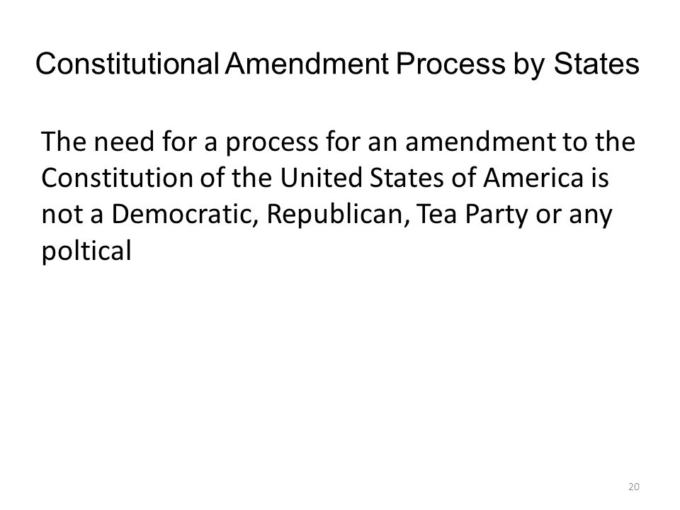 Constitutional Amendment Process by States