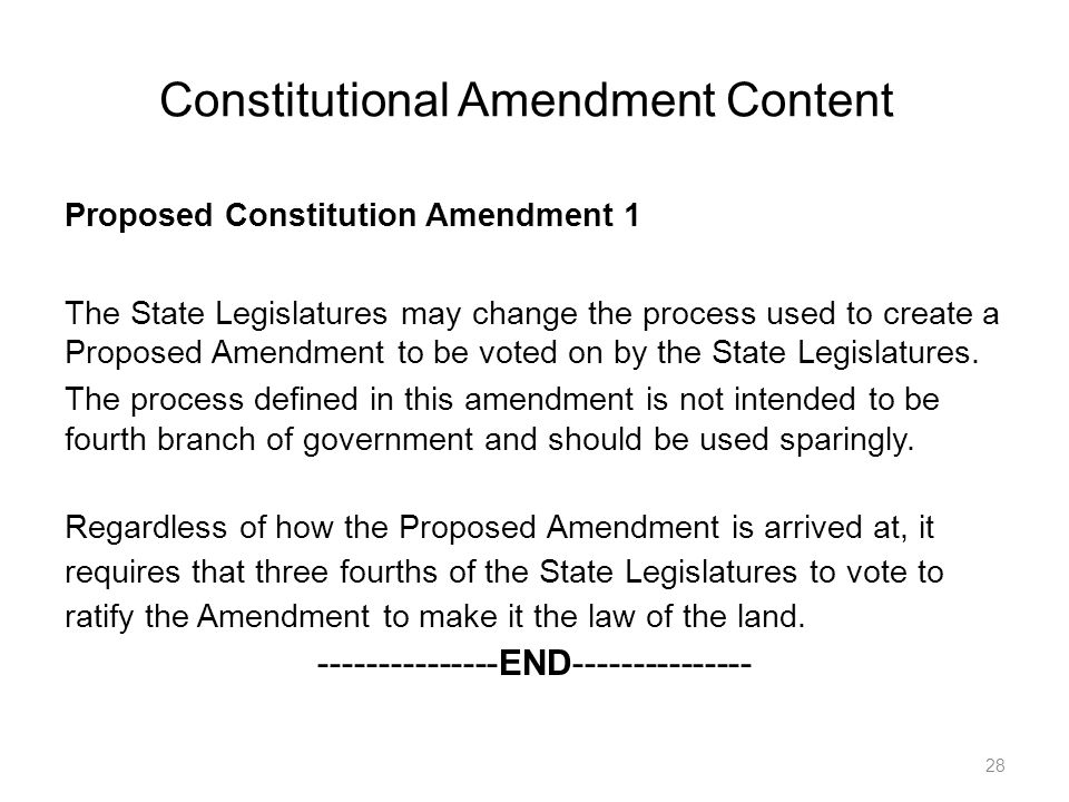 Constitutional Amendment Content