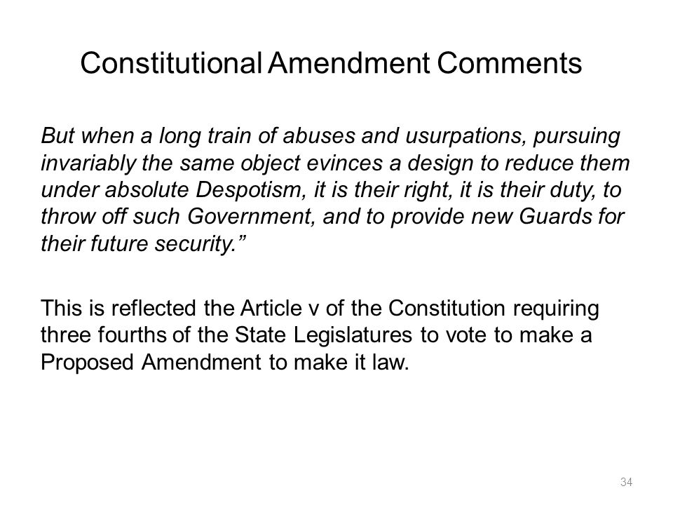 Constitutional Amendment Comments