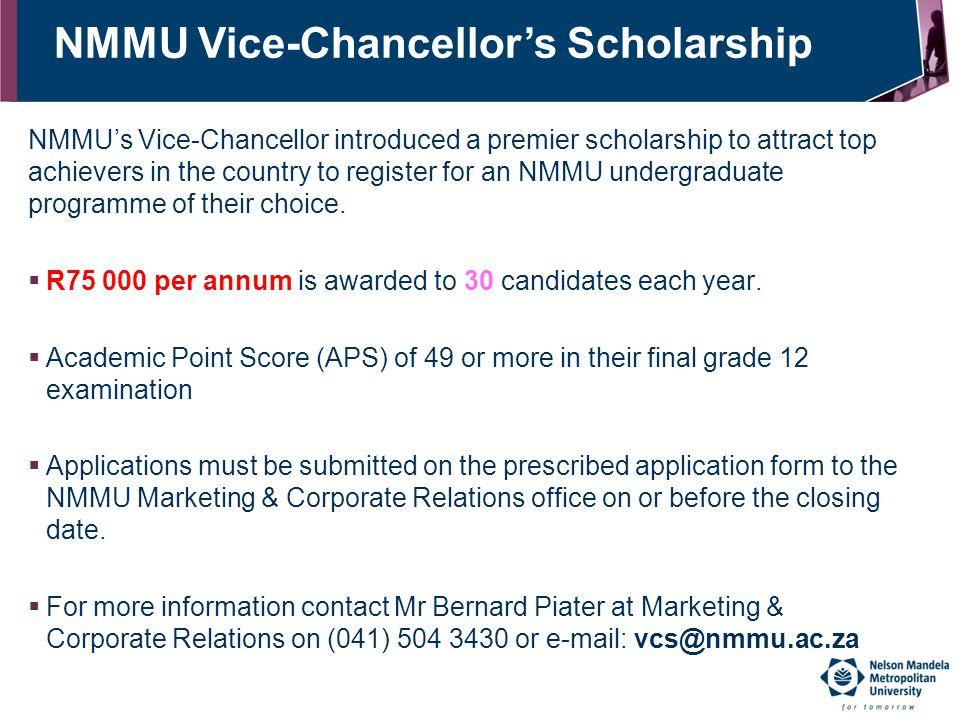 NMMU Vice-Chancellor's Scholarship