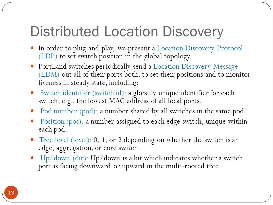 Distributed Location Discovery