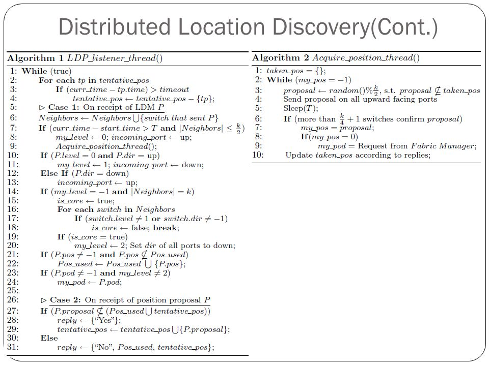 Distributed Location Discovery(Cont.)