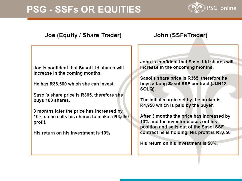 PSG - SSFs OR EQUITIES Joe (Equity / Share Trader) John (SSFsTrader)