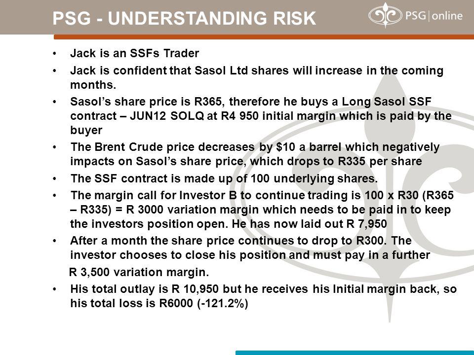 PSG - UNDERSTANDING RISK