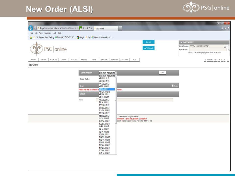 New Order (ALSI)