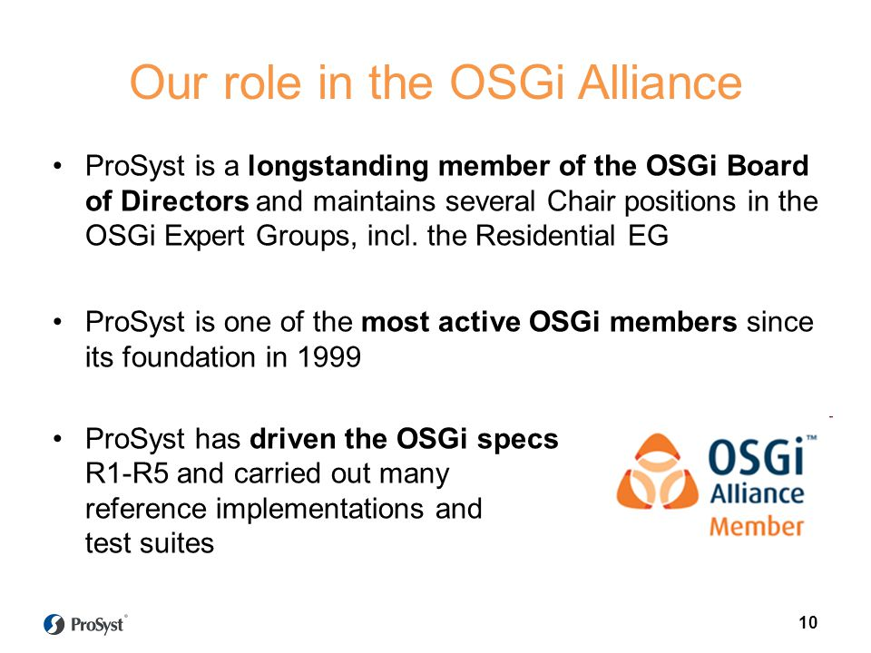 Our role in the OSGi Alliance