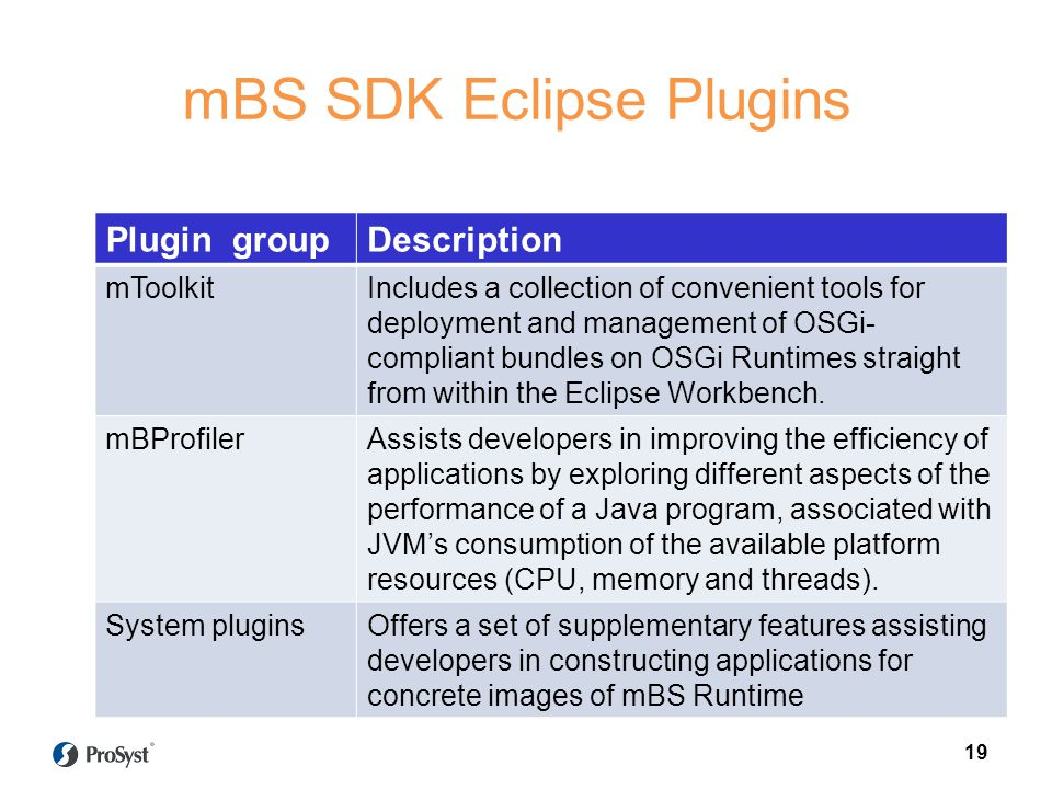 mBS SDK Eclipse Plugins