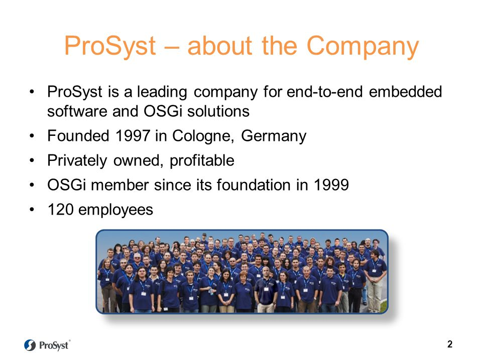 ProSyst – about the Company