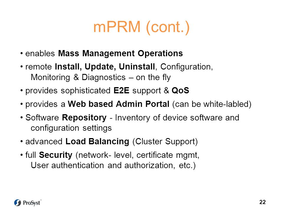 mPRM (cont.)