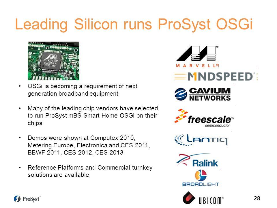 Leading Silicon runs ProSyst OSGi