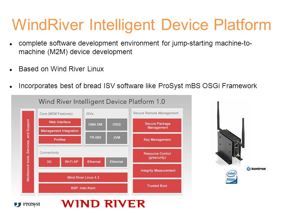 WindRiver Intelligent Device Platform