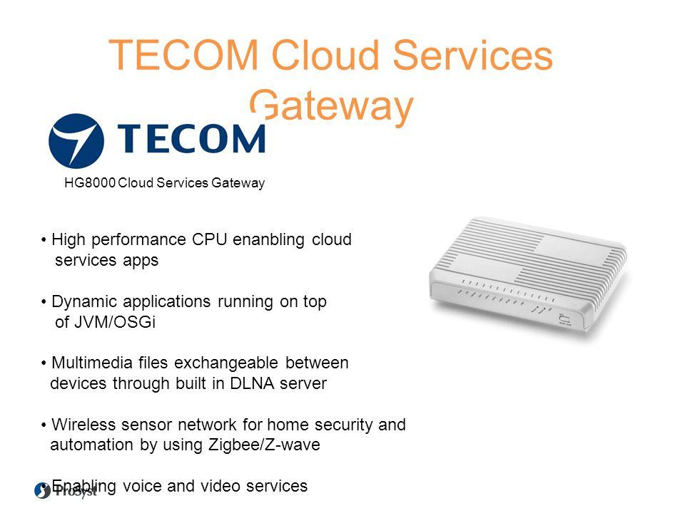 TECOM Cloud Services Gateway