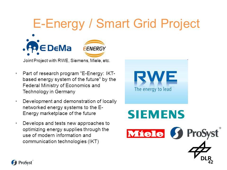 E-Energy / Smart Grid Project