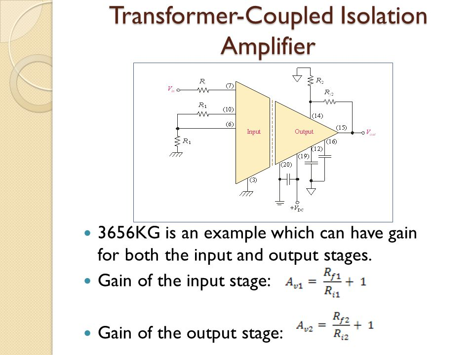 Transformer-Coupled Isolation Amplifier
