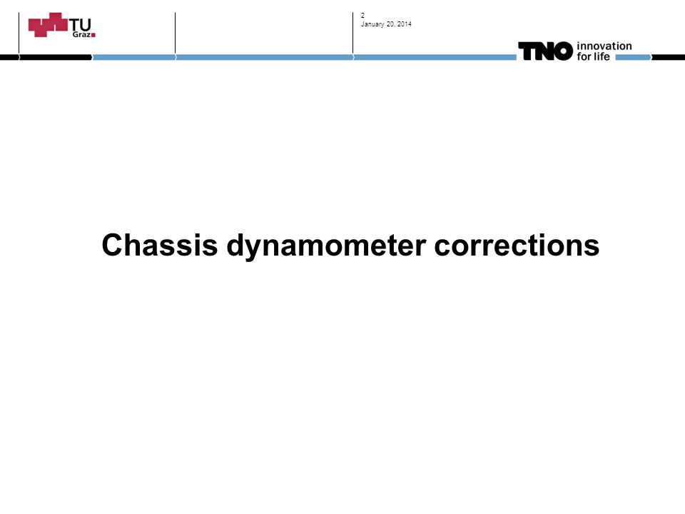 Chassis dynamometer corrections