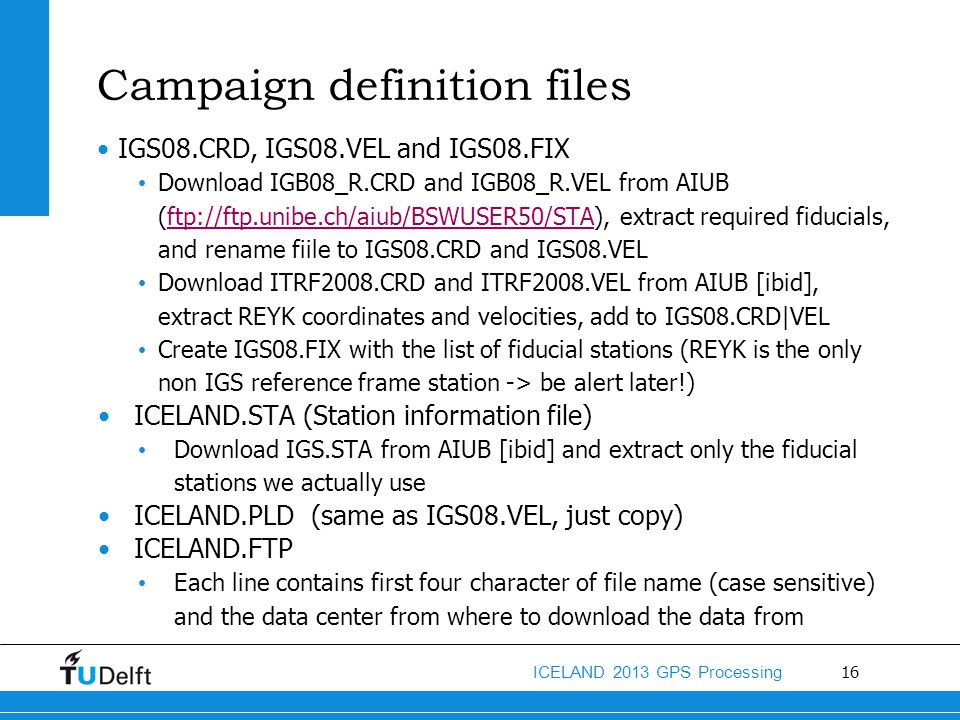 Campaign definition files