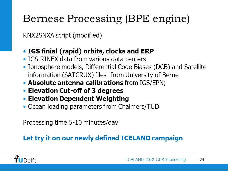 Bernese Processing (BPE engine)