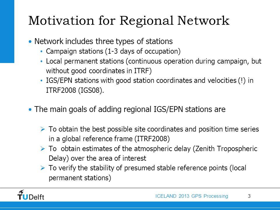 Motivation for Regional Network