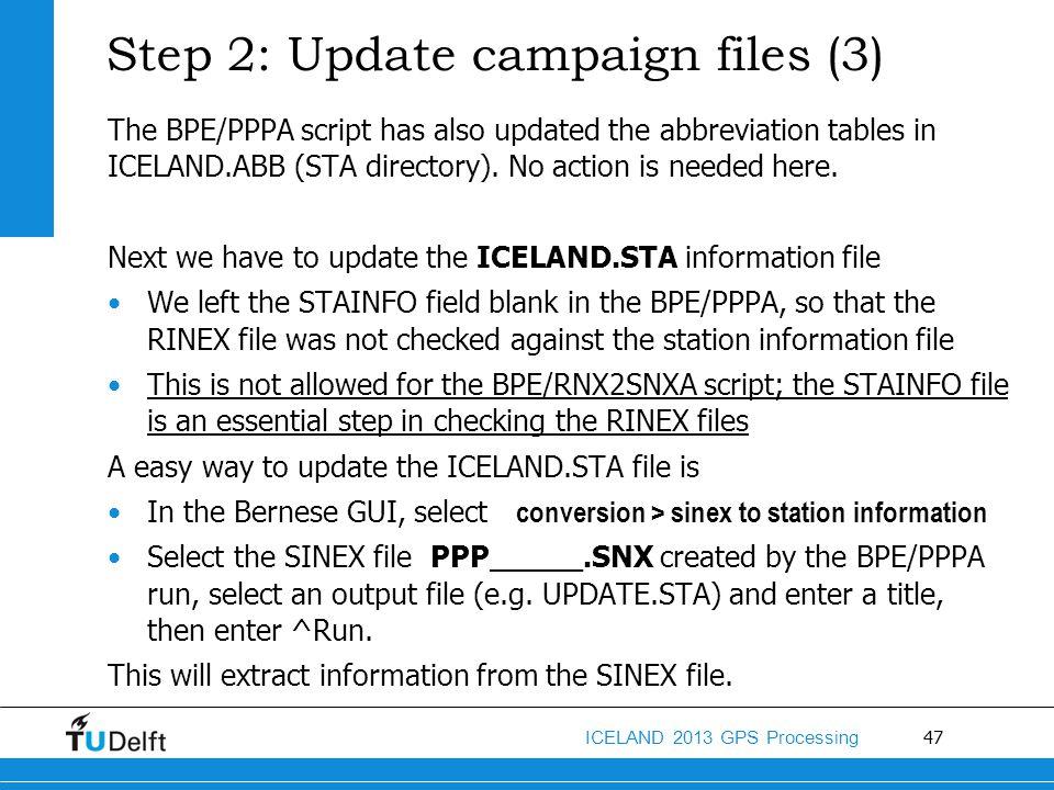 Step 2: Update campaign files (3)