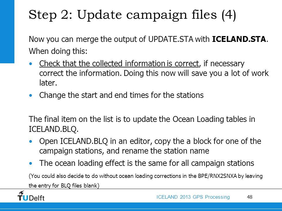 Step 2: Update campaign files (4)