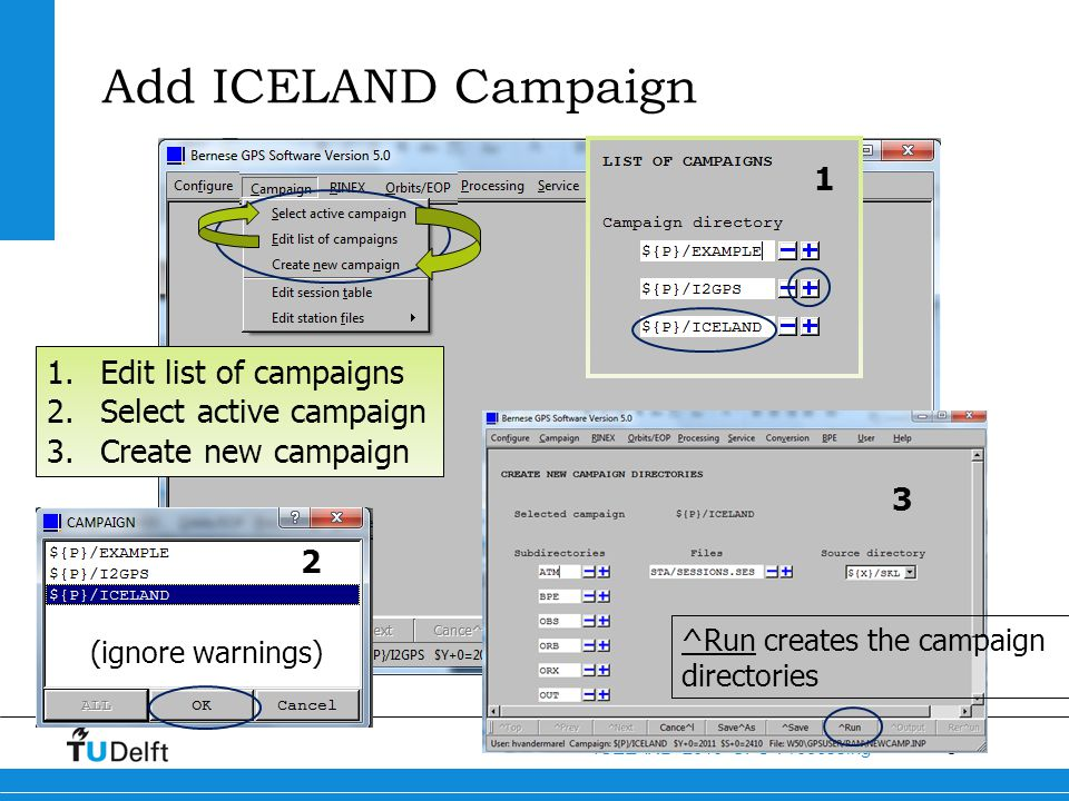 Add ICELAND Campaign 1 Edit list of campaigns Select active campaign