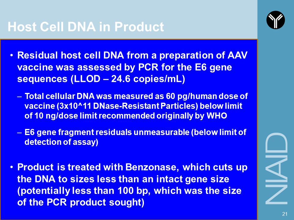 Host Cell DNA in Product