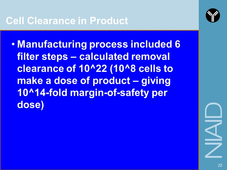 Cell Clearance in Product