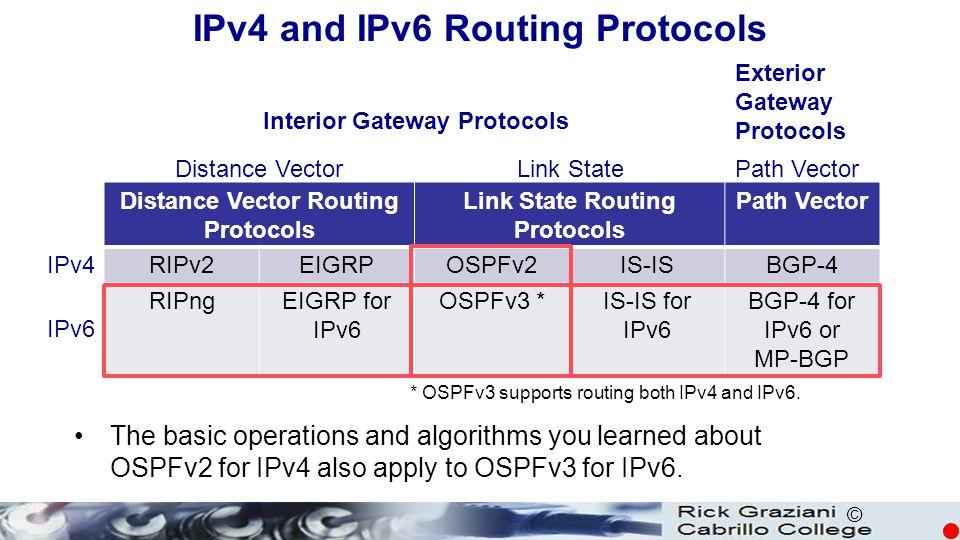 IPv4 and IPv6 Routing Protocols