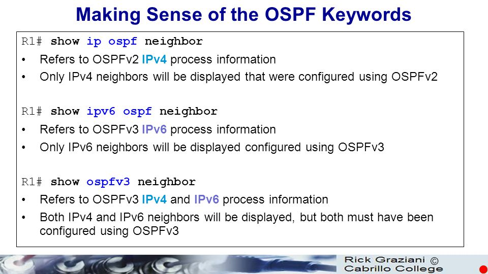 Making Sense of the OSPF Keywords