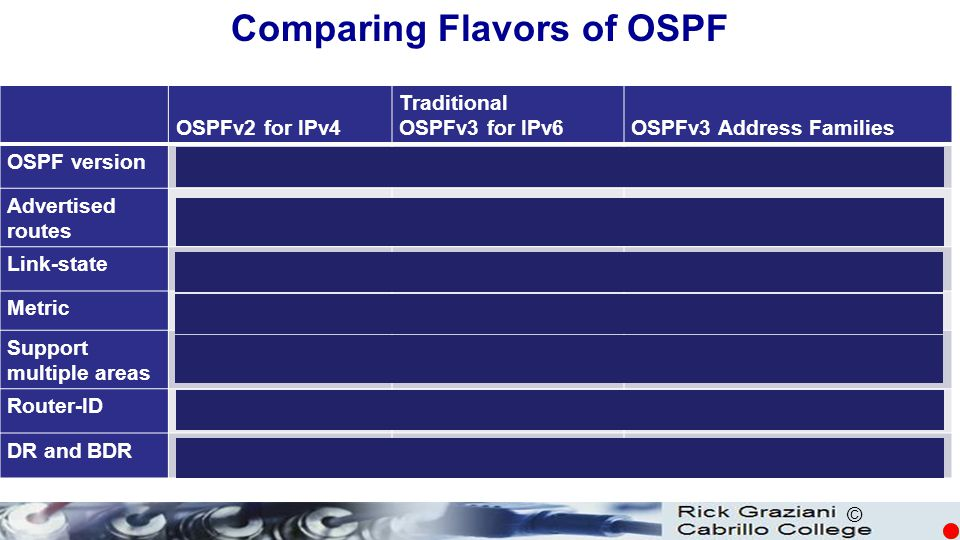 Comparing Flavors of OSPF
