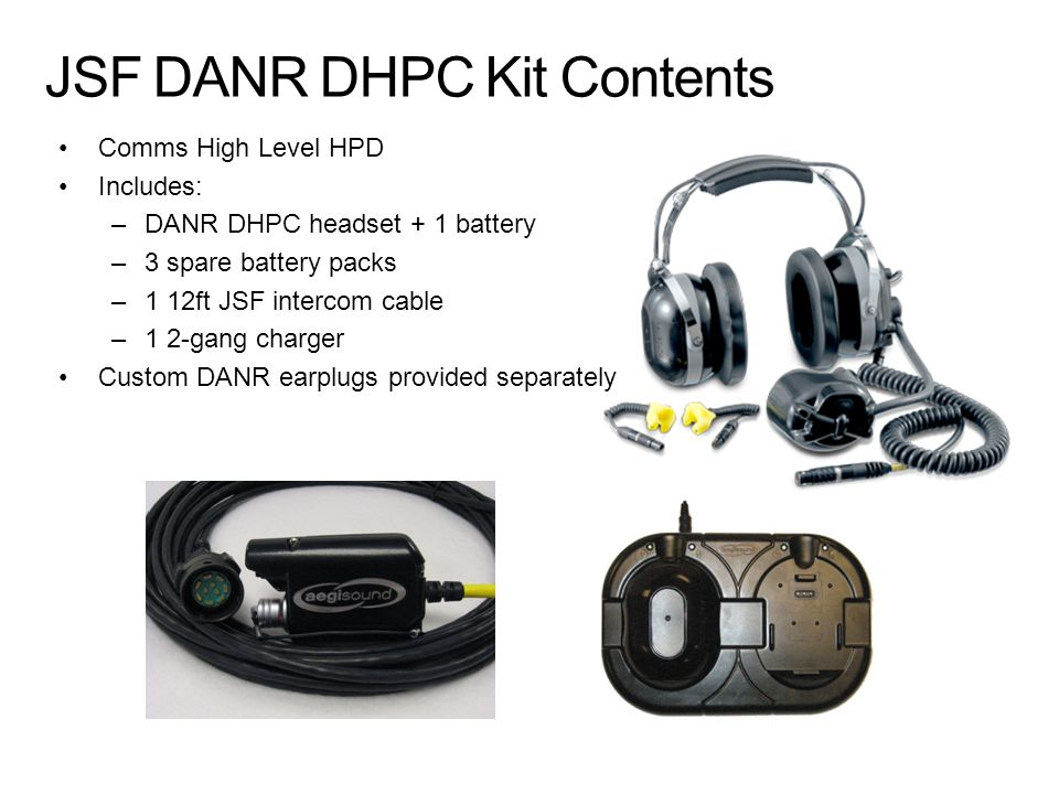 JSF DANR DHPC Kit Contents