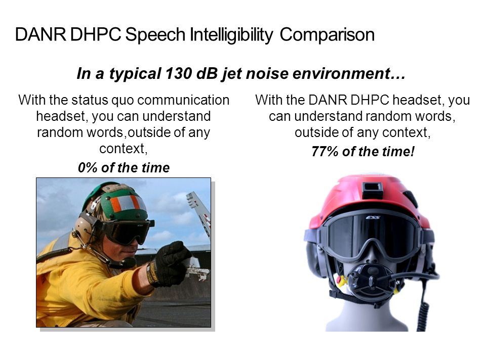 DANR DHPC Speech Intelligibility Comparison