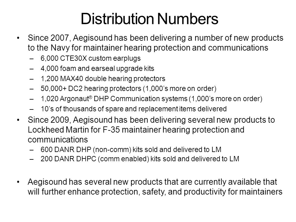 Distribution Numbers